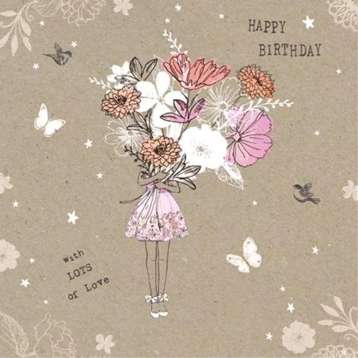 Красивые модные открытки с днем рождения