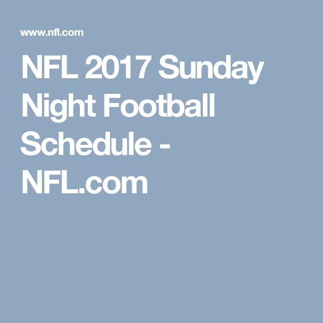 NFL 2017 Sunday Night Football Schedule - NFL.com