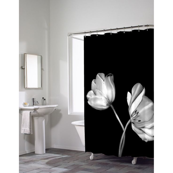 Maytex Mills Tulip Photoreal PEVA Vinyl Shower Curtain - 52135