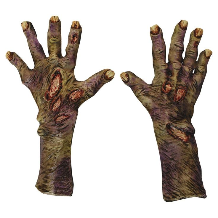 Adult's Zombie Rotted Hands