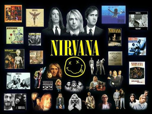 Nirvana Collage | Nirvana/Kurt Cobain | Pinterest ...