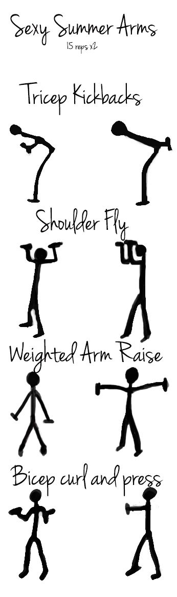 Pretty arms, grab those hand weights!