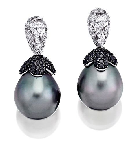 PAIR OF TAHITIAN SOUTH SEA PEARL AND DIAMOND EARRINGS, AUTORE, Sotheby's Australia Auctions, Calender, Australian Auctioneers