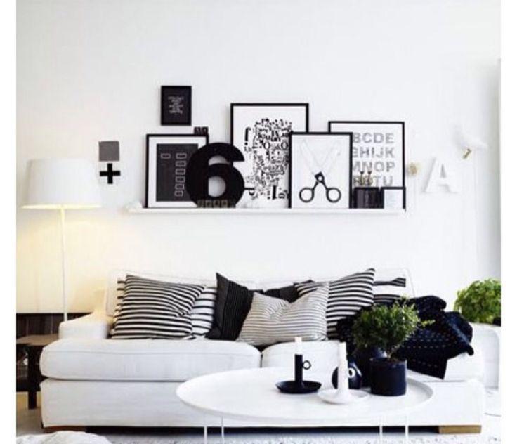 Mais uma parede de quadros lindas! Com paleta de cores neutras e chique.