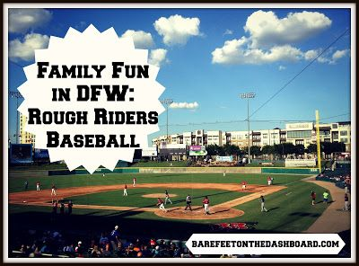 Family Fun in DFW: Rough Riders Baseball By Bare Feet on the Dashboard #summer #baseball