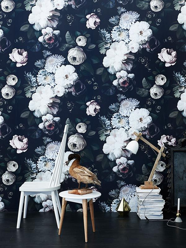 Powder room wall paper