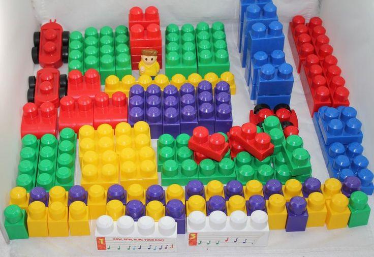 LEGO PRIMO Duplo Large Lot of Blocks 43 Total Pieces Multi-Color Person Car #LEGO