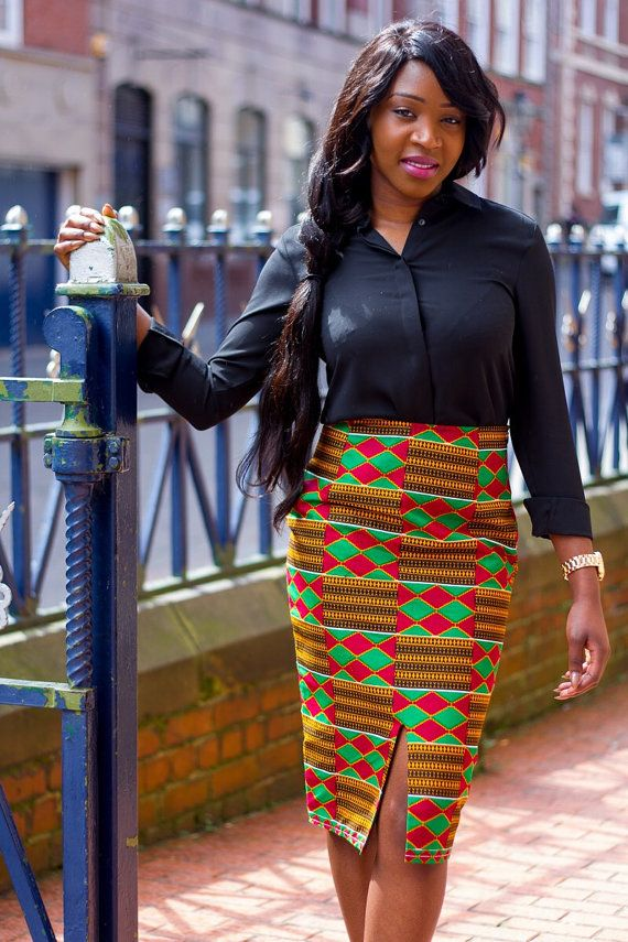Image result for Check Out These Cute Print Pencil Skirt