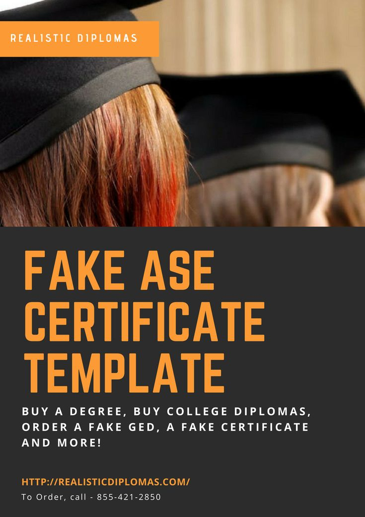 15 best fake ase certificate print your own diploma for Fake ase certificate template