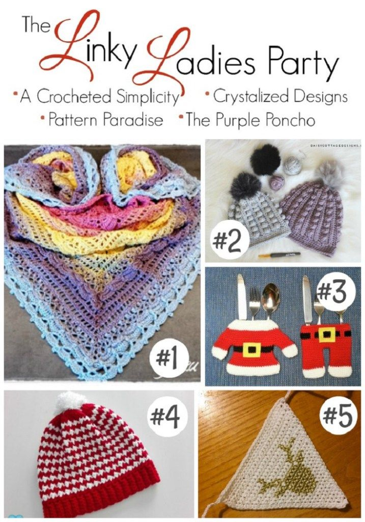 The Linky Ladies Party #123 – The Purple Poncho   This is a fiber arts bi-weekly community party and is live from Tuesday at 12:00 am, ending on Saturday at 12:00 pm (PST). Show off your talent by linking up your finished knit and crochet projects!