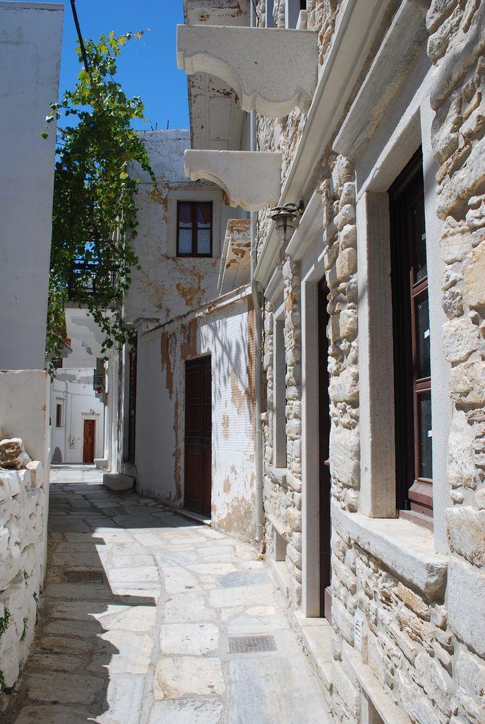 Village of Apiranthos in Naxos, Cyclades_ Greece