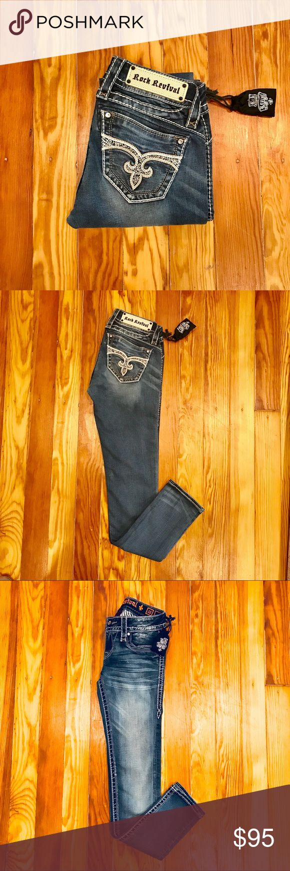 "Rock Revival- Adele Skinny Jeans (NWT) Rock Revival- Adele Skinny Jeans (NWT) Mid-Wash 31"" inseam Rock Revival Jeans Skinny"