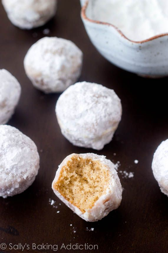 Powdered Donuts from scratch 1/3 cup (5 Tablespoons) unsalted butter, softened to room temperature 1/2 cup granulated sugar 1 large egg 1 teaspoon vanilla extract 1/2 cup milk (cow's milk, soy milk, almond, or rice are fine) 1 and 1/2 cups white whole wheat flour (or all-purpose flour) 1 and 1/2 teaspoon baking powder 1/2 teaspoon ground cinnamon 1/2 teaspoon salt 3 Tablespoons unsalted butter 3/4 cup powdered sugar