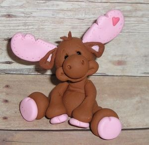 Cute deer with pink highlights!