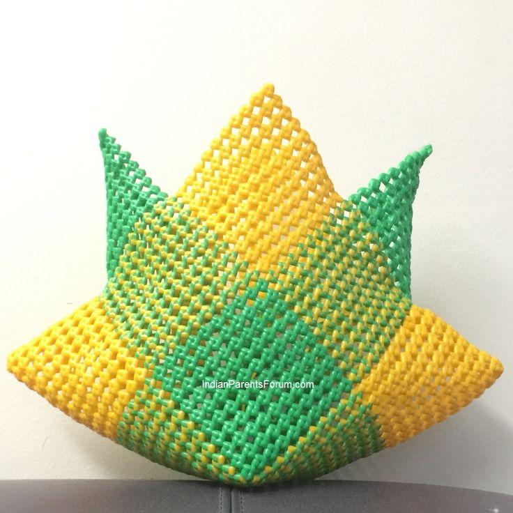 Star shaped basket tutorial- Indian Plastic Wire Baskets - நட்சத்திர வடிவில் பிளாஸ்டிக் சரடு கூடை பின்னுவது எப்படி