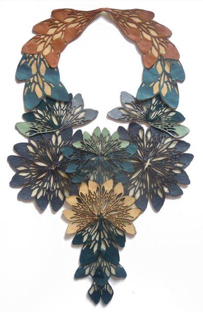 Jasmine Bowden Laser Cut Leather Necklace