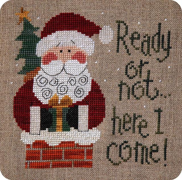 ready or not... by kunderwood {stitchy stitcherson}, via Flickr