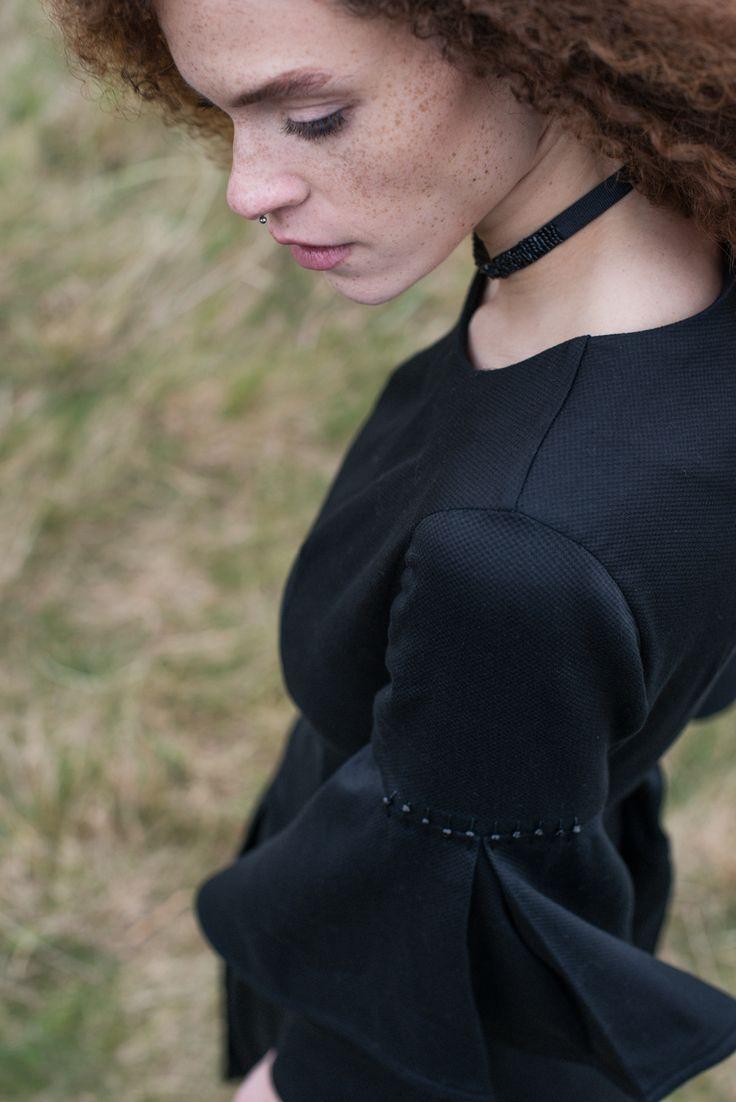 Double sleeved dress with flared sleeve detail #dress #flaredsleeve #handbeading