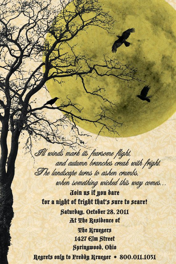 32 best Halloween Parchment images – Scary or Horror Invitation Cards