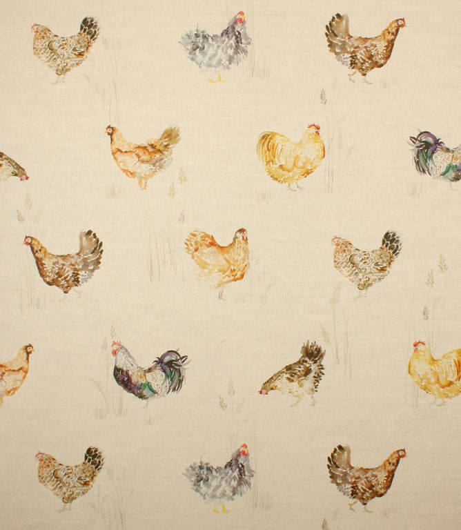 Cockerels Are Scattered All Over This Fabric Made From