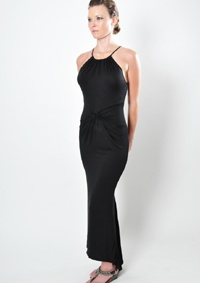 A must have, this beautiful drape dress has subtle pleating and detail from top to bottom.
