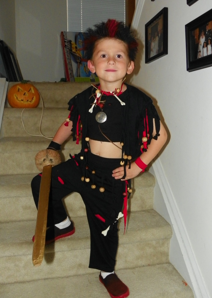 DIY Rufio costume (from the movie Hook)