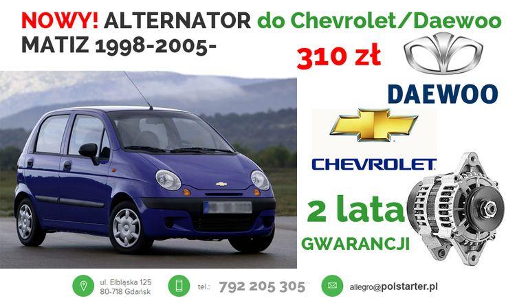 ⚫ Jeździsz Matizem - Daewoo lub już Chevroletem i Twój alternator nie jest już w pełni sprawny, to kup nasz w cenie 310 zł!   ⚫ Nasze pozostałe aukcje w serwisie allegro:  ➜ http://allegro.pl/listing/user/listing.php?us_id=26261890&order=m  ⚫ Odwiedź także naszą stronę i sklep internetowy: ➜ www.polstarter.pl ➜ www.sklep.polstarter.pl  ⚫ KONTAKT: 📲 792 205 305 ✉ allegro@polstarter.pl  #rozrusznik #rozruszniki #alternator #alternatory #mechaniksamochodowy #nowy #ChevroletMatiz #Daewoo #Kalos