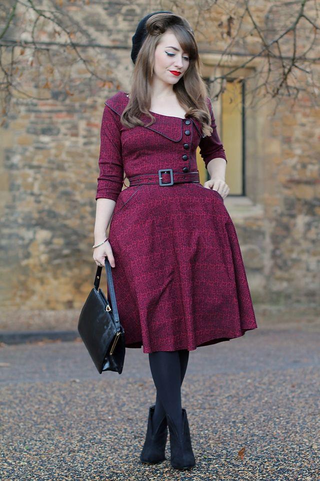 Voodoo Vixen Lilly dress in burgundy review