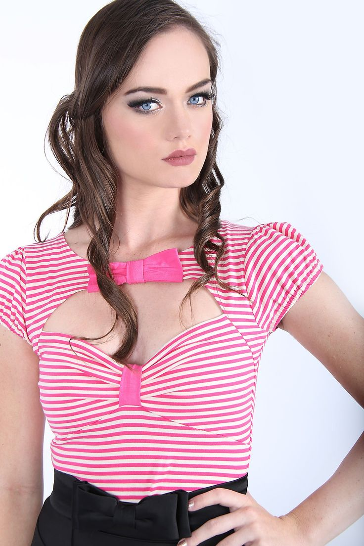Paris in Spring Bow Top (Pink)