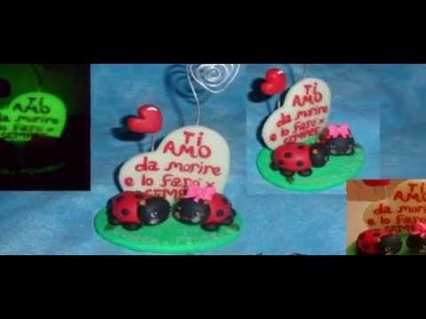 Creazioni in fimo polymer clay Noemy idee fatate : bomboniere, soprammobli, cake topper - YouTube Creations in polymer clay by Noemy idee fatate