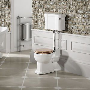 White-Traditional-Ceramic-Toilet-Cistern-Bathroom-Low-High-Level-Luxury-Pan