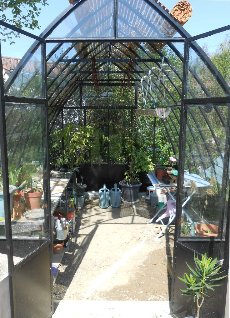 Int rieur serre am nagement du jardin pinterest for Amenagement jardin interieur
