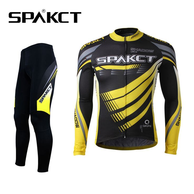 SPAKCT  Cycling Suits Outdoor Sports Men's Long Sleeve Pants Sets Breathable Professional Bicycle Sportswear Riding Equipment