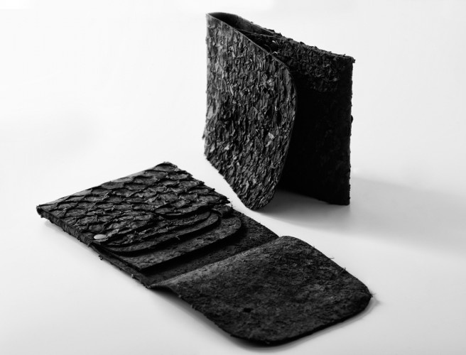 "#wallet made of fish leather (perch) / Design by Sruli Recht ""whalet"""