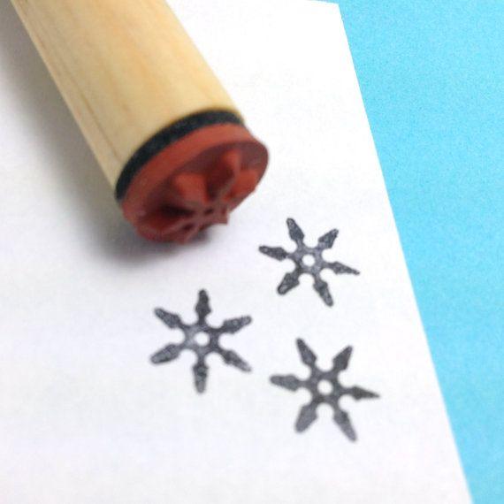 Ninja Rubber Stamp Shuriken Throwing Star by RADstamps on Etsy, $3.40