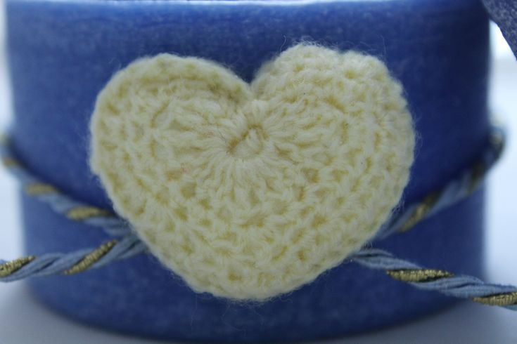 https://flic.kr/p/yGg3sj | BLUE BOX – MADE OF WAX | Round blue box made of wax, decorated with a yellow crocheted heart and a yellow and light blue ribbon. 100% natural essential oil with sweet orange fragrance. Diameter: 80 mm.  Handmade.  Read more:   www.ilmiomondoincera.com