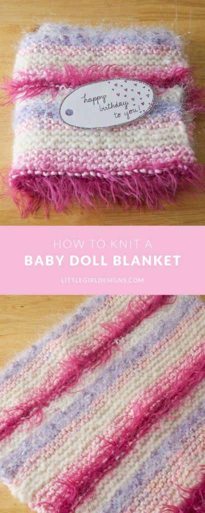 e16c4806e How to Knit a Simple Baby Doll Blanket