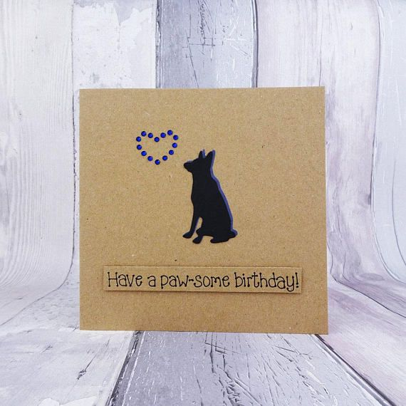 Alsatian birthday card German Shepherd dog card GSD Funny