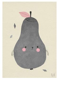 Peren-poster #kinderkamer | Pear poster #kidsroom