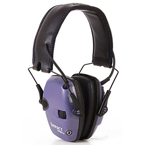 Howard Leight by Honeywell Impact Sport Sound Amplification Electronic Earmuff, Purple #carscampus