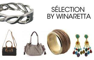 Bijoux fantaisie, sacs et accessoires branchés de l'été soldés jusqu'à -50% chez Winaretta