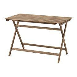 IKEA - ASKHOLMEN, Tavolo da giardino, Il tavolo occupa poco spazio quando lo metti via, poiché è pieghevole.Per prolungarne la durata e conservare l'aspetto naturale del legno, il mobile è stato trattato con uno strato di mordente per legno semitrasparente.
