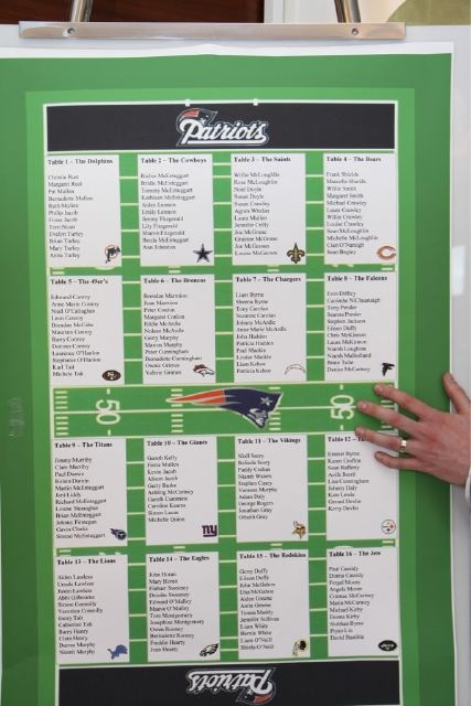 Football-themed seating chart!: Football Themed Weddings, Wedding Seating Charts, Sports Football Patriots, Football Style, Tables Seats, Escort Cards, Football Fans, Wedding Seats Charts, Football Team