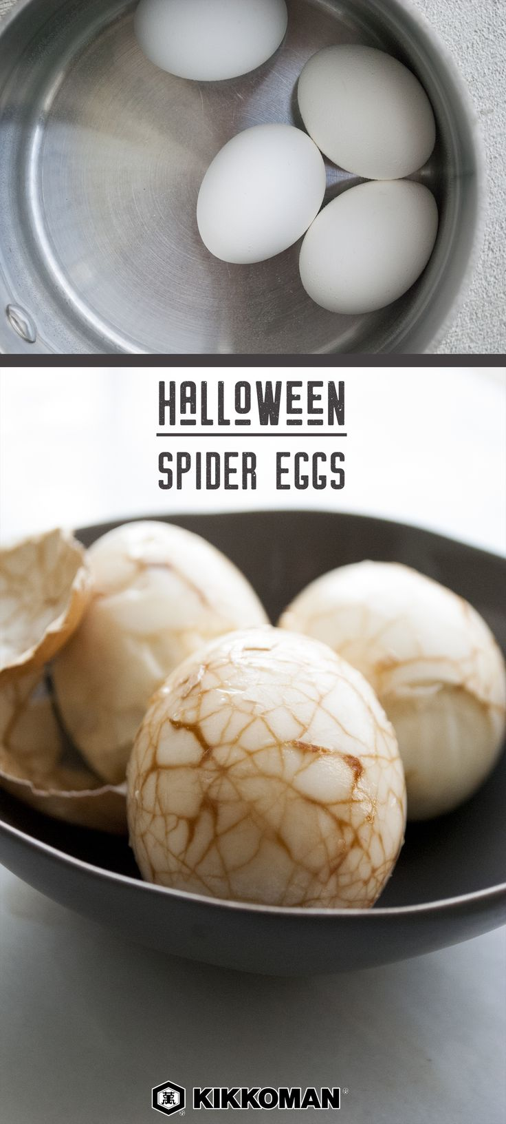 Ideal Halloween Spider Eggs Let Chinese Tea Leaf Eggs double as spider eggs dragon eggs dinosaur eggs or monster eggs this Halloween