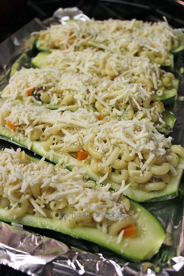 Zapallo italiano relleno con pasta