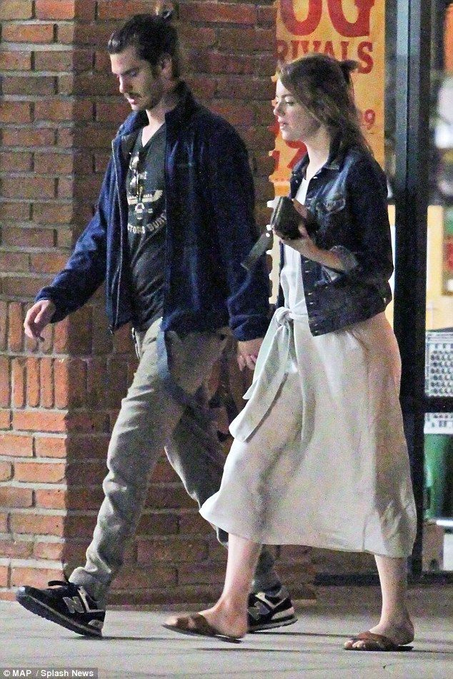 Superhero love: It seems the love for superheroes is still very much alive for Emma Stone and Andrew Garfield as they were spotted watching Ant Man in a local cinema in Los Angeles