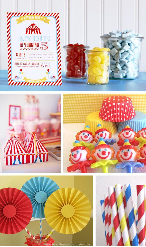 Circus Birthday Party Inspiration Board