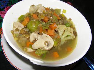 W Mojej Kuchni Lubię.. : z soczewicą zieloną zupa jarzynowo pieczarkowa na ...