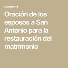 Oración de los esposos a San Antonio para la restauración del matrimonio
