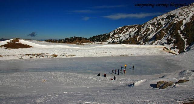 Frozen lake at mt Smolikas, north Pindus, Greece